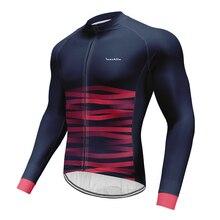 2019 neue RUNCHITA Marke Bike Atmungsaktive Jersey Quick Dry Langarm Maillot Ropa Ciclismo Pro Team Fahrrad Kleidung Radfahren Cl
