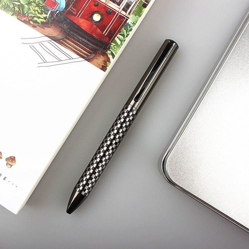 Роскошная металлическая шариковая ручка, Высококачественная ручка для письма в деловом стиле, офисные и школьные принадлежности
