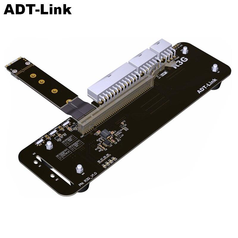 M2 llave M NVMe soporte para tarjeta gráfica externa con PCIe3.0 x4 Cable elevador 25cm 50cm 32Gbs para ITX STX NUC VEGA64 GTX1080ti