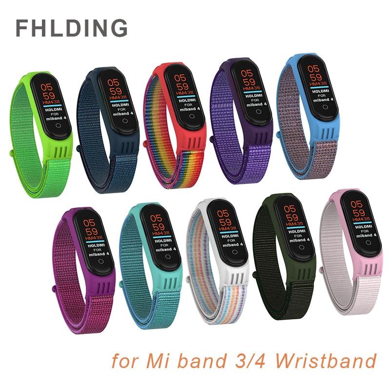 Para Xiaomi Mi Band 4 Correa transpirable Nylon silicona pulsera reemplazable para Mi band 4 MiBand 3 Correa Smart watch Accesorios