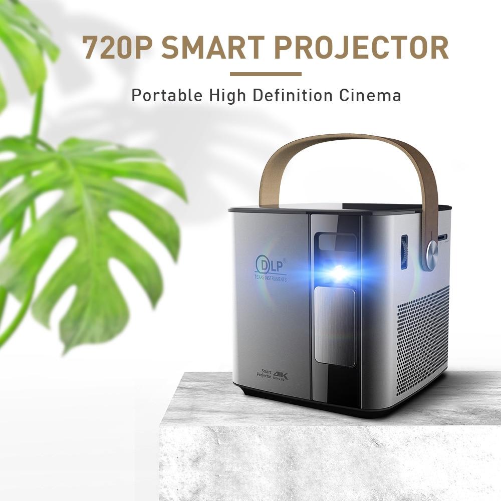 P12 720P resolución nativa DLP portátil Android Mini Proyector 4K 12000mA Beamer Cine en Casa 2.4G5G WiFi Bluetooth LED Proyector