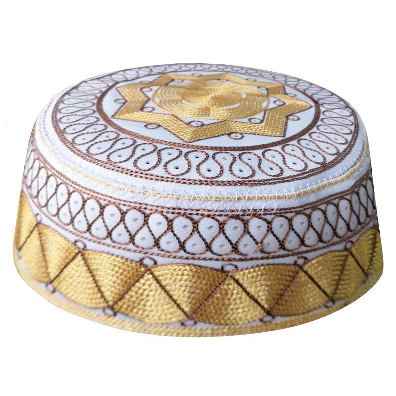 Allah islamskie czapki modlitewne indie Ramadan kapelusze muzułmańskie Islam Bonnet żydowskie czapki hidżab afrykański Yarmulke Kippah Musulman modlitewne kapelusze