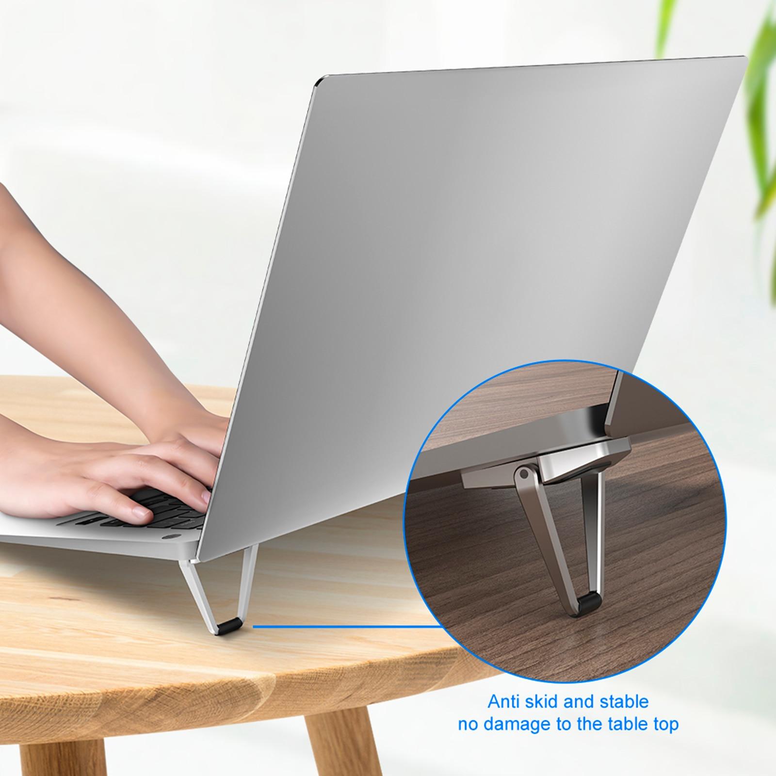 Invisable Zinc Alloy Laptop Stand For Pro Notebook Foldable Angel Adjustable Laptop Holder For Macbook Notebook Laptop