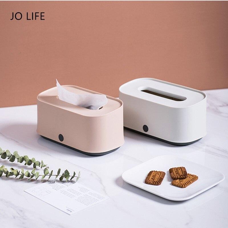 Jo vida norte estilo simples caixa de tecido recipiente restaurante sala toalha guardanapo papéis saco titular caixa