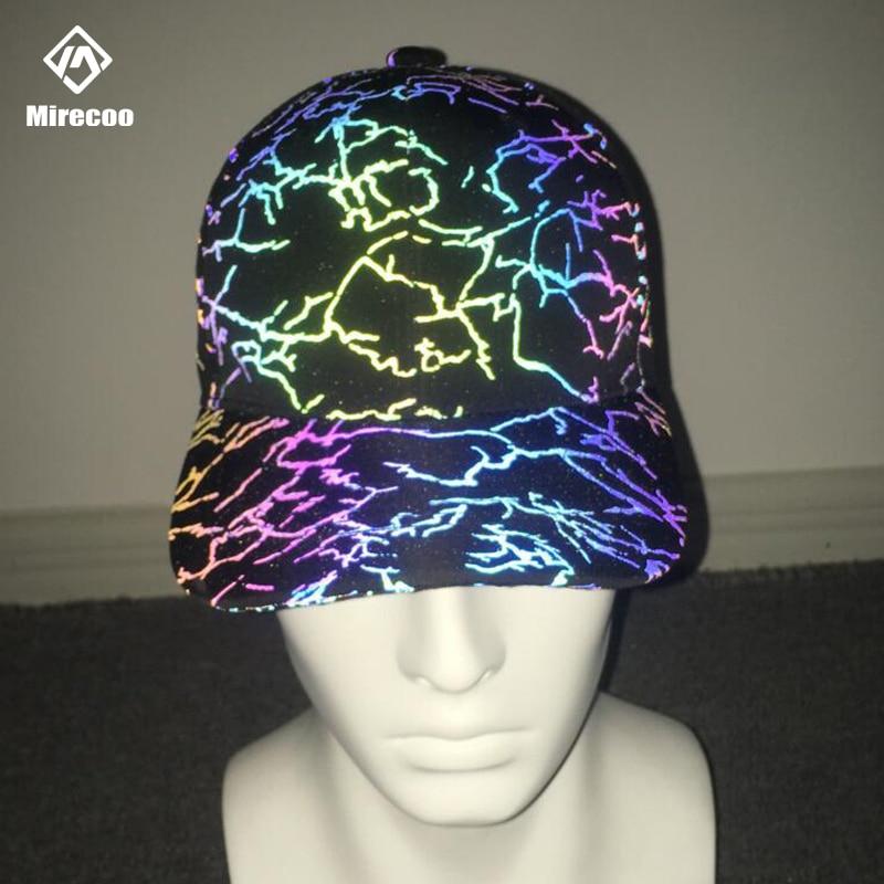 البرق الليزر عاكس قبعات الرجال قابل للتعديل قبعات بيسبول قوس قزح قبعة للرجال النساء التكتيكية Snapback قبعة الهيب هوب الشارع الشهير
