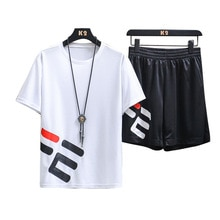 2 Pcs/Set Men's Tracksuit Gym Fitness Badminton Sports Suit Clothes Running Jogging Sport Wear Exerc