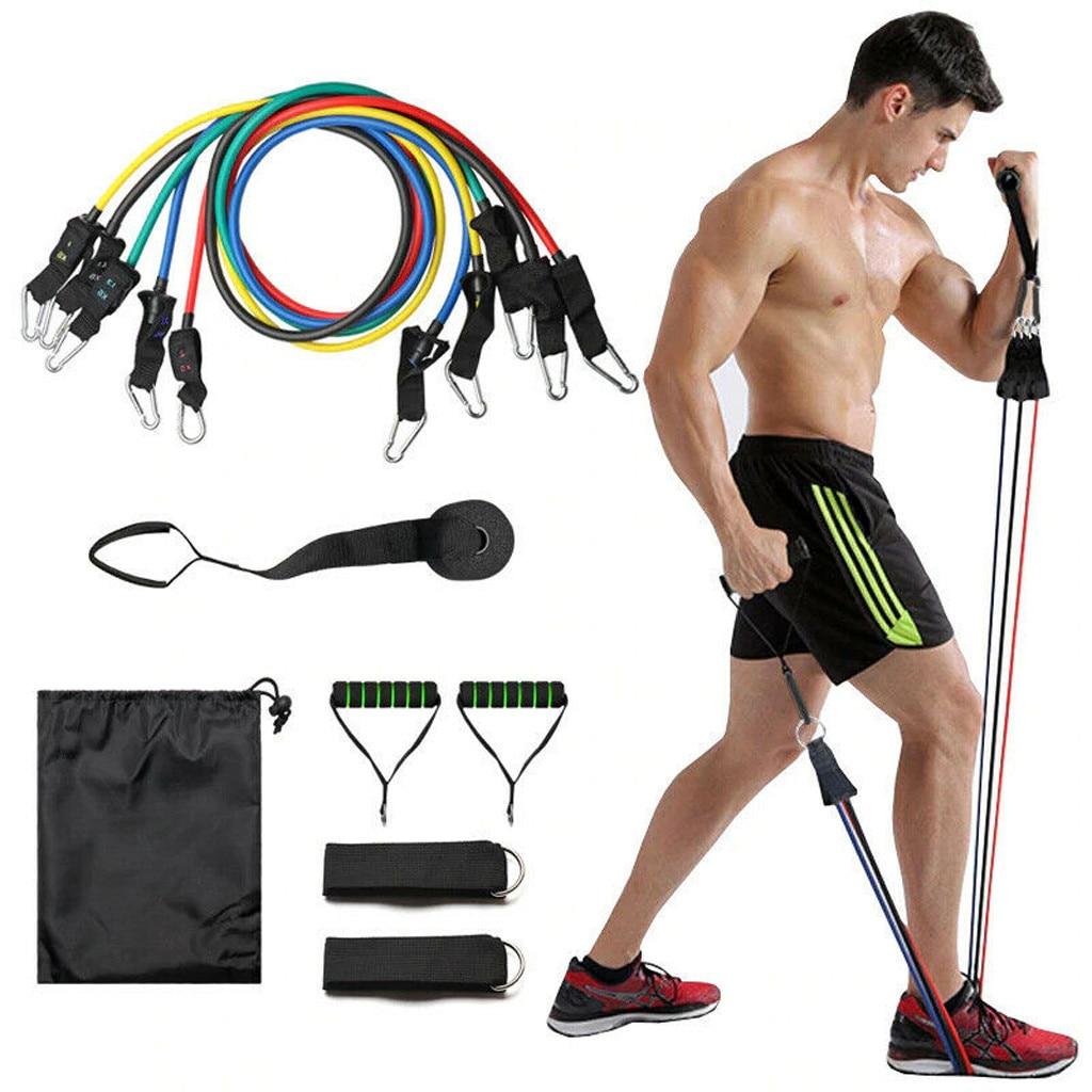 11 шт./набор резистентных лент из натурального каучука, латексные резинки для фитнеса, эластичные спортивные резинки Pul для спортзала