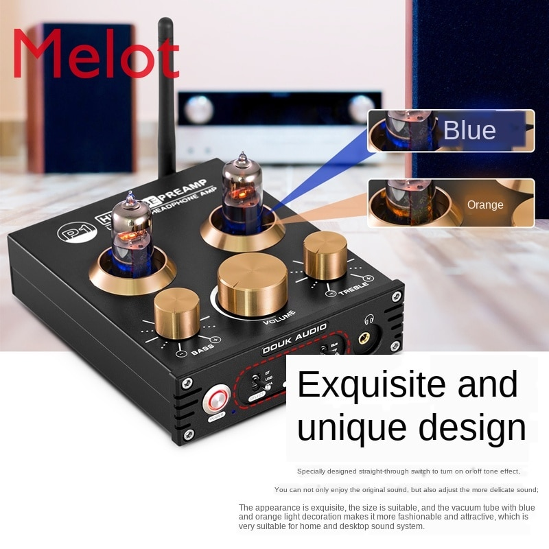 Bluetooth 5.0 Front-End Electronic Tube Preamp Tube Amplifier USB DAC Decoding Ear Amp Tone AptX enlarge