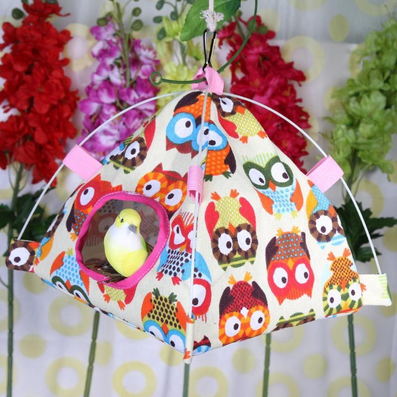 Nueva moda de 1Pc para hámster, aves nido Parrot Lodge carpa China casa jaula hamaca colgante nidos cama suave almohadilla suministros para mascotas