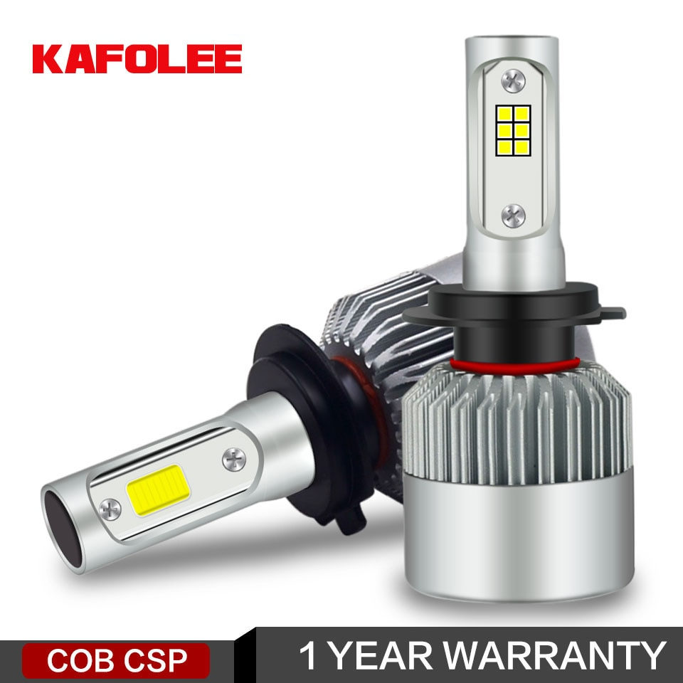 H7 kafulee Farol Do Carro LED H4 H8 H11 H1 H3 H13 HB3 HB4 9005 9006 9007 S2 COB CSP 12V 24V 6000K 72W 2PSC Auto lamp light Bulb