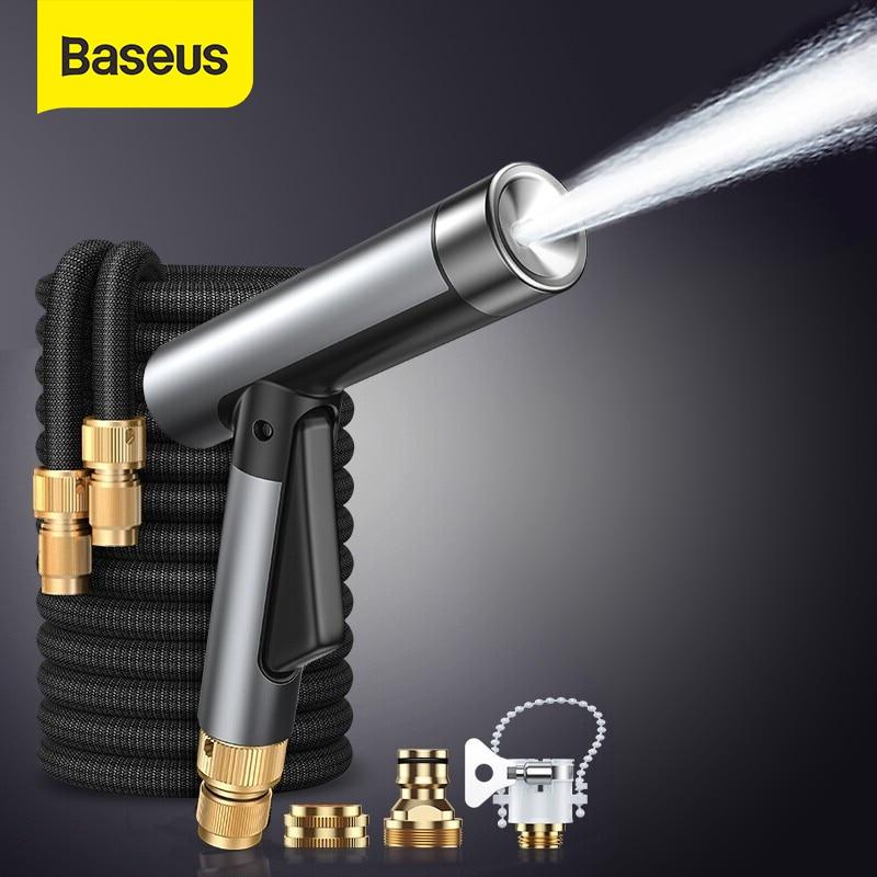 Baseus Автомойка из сплава высокого давления водяной пистолет Автомойка садовый шланг волшебный гибкий шланг чистящие инструменты для мытья ...
