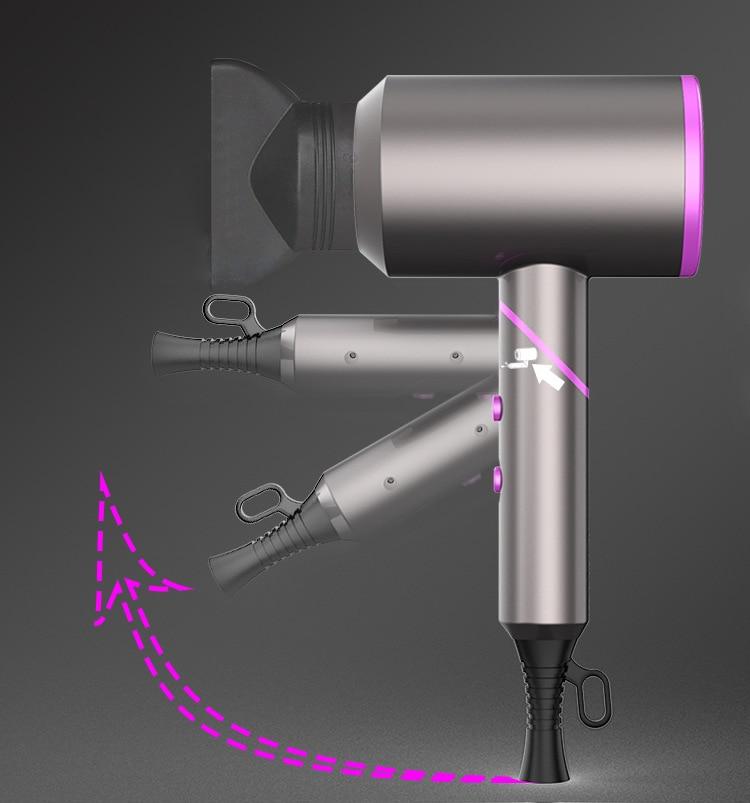 2000W Professionele Haardroger Negatieve Ionen Föhn Handvat Opvouwbare Blower Koude Lucht Hot Air Brush Klap Sterk Haar Type enlarge