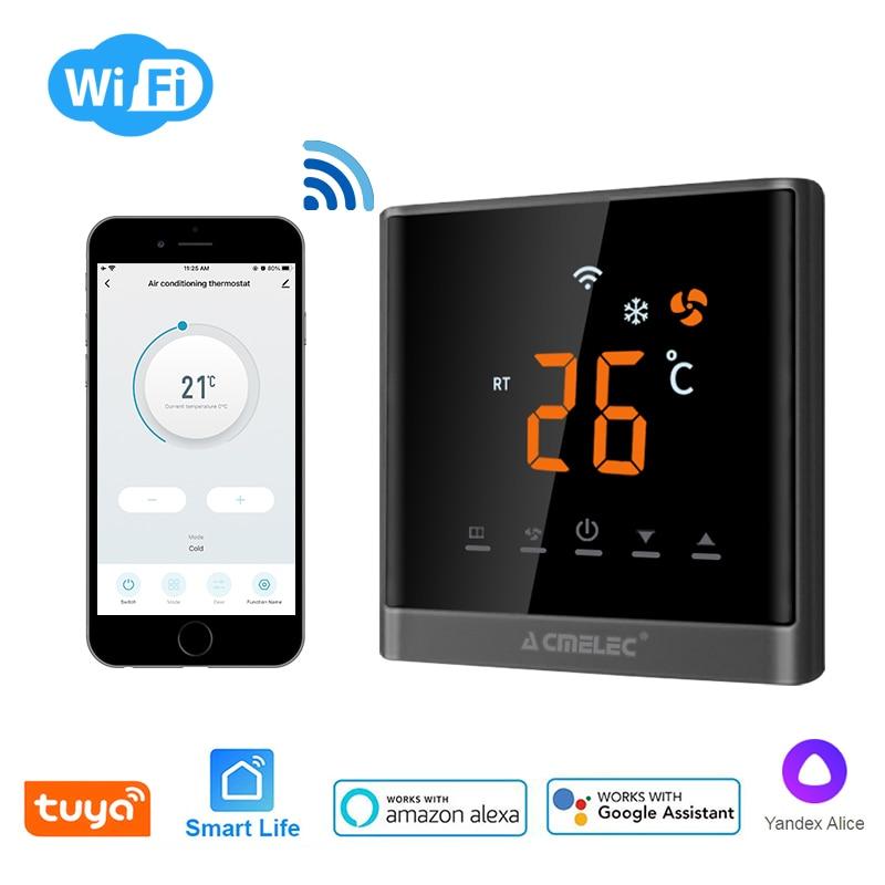 Tuya مكيف الهواء الذكية واي فاي ترموستات لجوجل الرئيسية/اليكسا درجة حرارة الغرفة المركزية لترموستات الرقمية قابل للتعديل