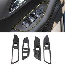LHD! Pour Chevrolet Blazer 2019 2020 accessoires ABS Fiber de carbone intérieur fenêtre interrupteur ascenseur bouton couverture garniture voiture style