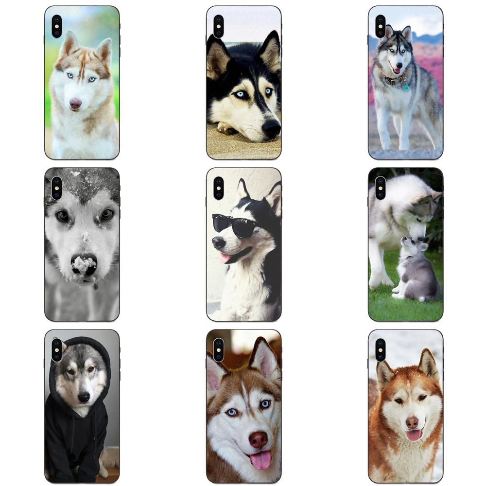 Diseño encantador perro Husky Siberiano TPU funda para Huawei Honor 5A 6A 6C 7A 7C 7X8 8A 8C 8X9 9X10 10i 20 Lite Pro
