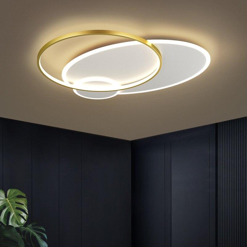 سقف ليد حديث أضواء سطح جبل المعادن الثريا ل بهو غرفة المعيشة غرفة نوم الطعام مصباح السقف Led بريق