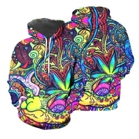 unisex hooded sweatshirt latest version suitable for autumn and winter long sleeves psychedelic 3d