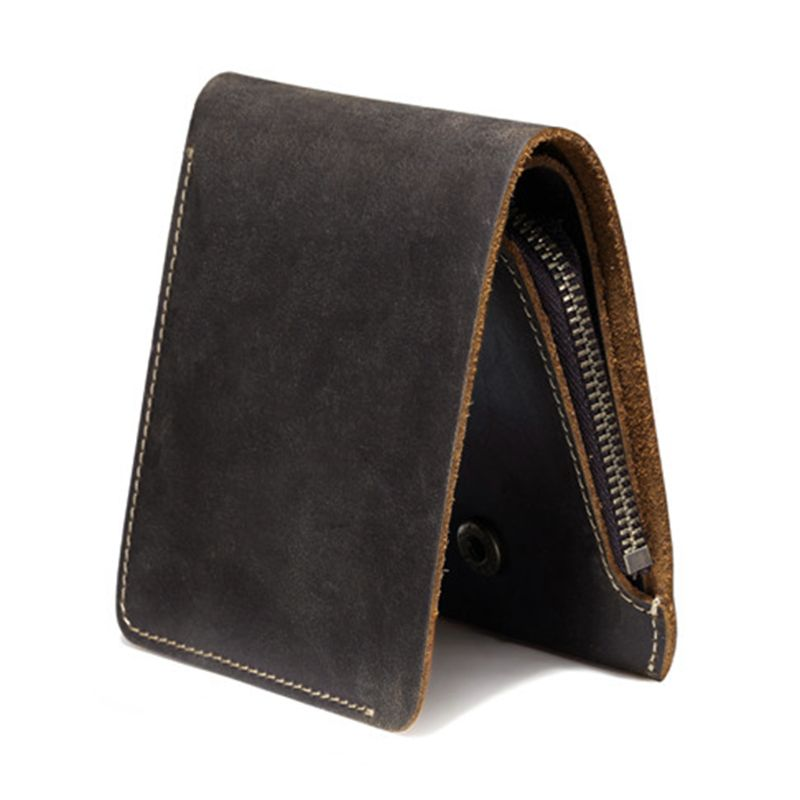 Business Bifold Wallet Men's Genuine Leather Credit ID Card Holder Case Purse Gift New