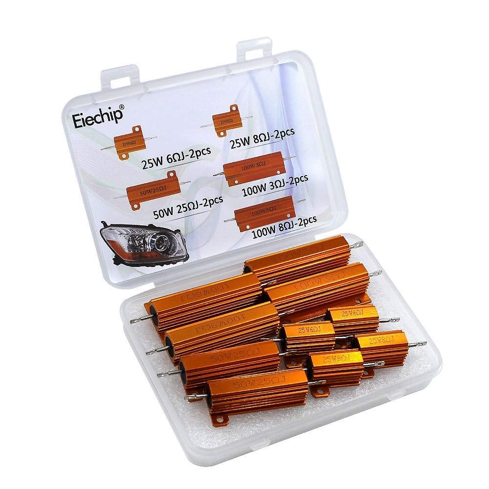 10pcs/lot 25W 50W 100W Car Load Resistor LED Reverse Brake Turn Signal Light Wirewound resistance kit for 7443 7440 WY21W W21W