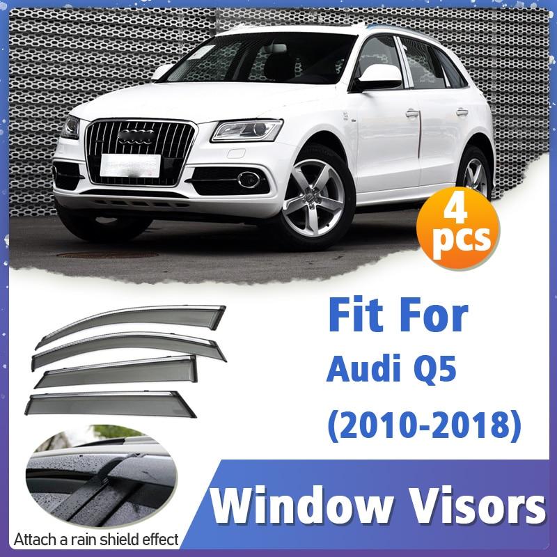 Window Visors Guard for Audi Q5 2010-2018 Visor Vent Cover Trim Awnings Shelters Protection Guard Deflector Rain Rhield 4pcs