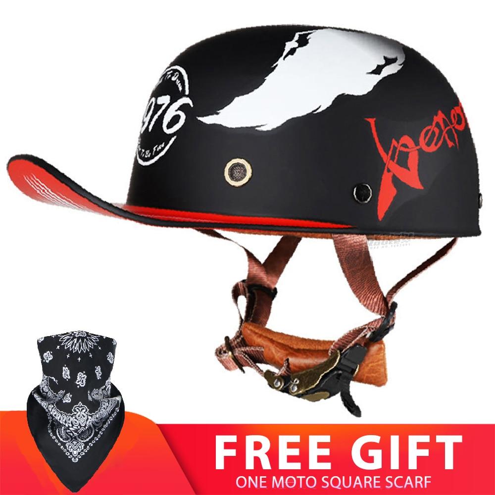 Шлем мотоциклетный мужской/женский, винтажный Ретро шлем для мотоциклистов, байкеров, защитная Экипировка, гоночный скутер