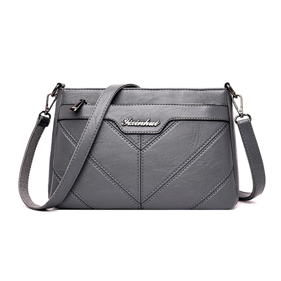 حقائب كتف نسائية حمل حزام طويل جودة عالية بولي Leather حقائب جلدية Crossbody أكثر من حقيبة ساعي الإناث محفظة حقائب اليد