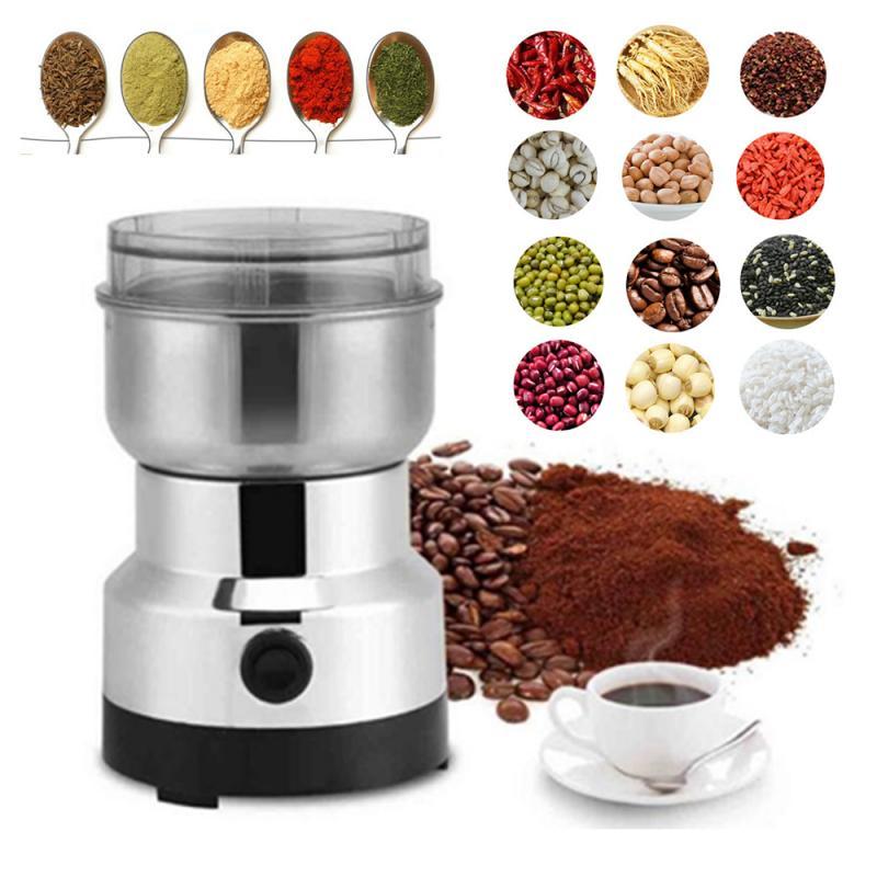 Многофункциональная электрическая кофемолка из нержавеющей стали пряный кофе-измельчение специй, кофе в зернах, трав