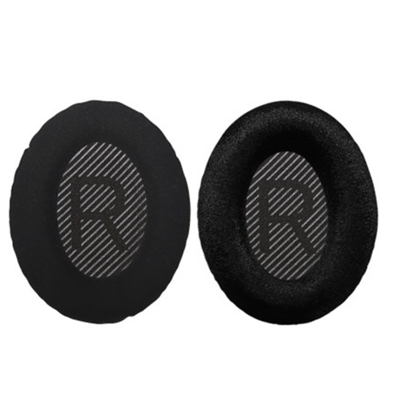 Replacement Ear Pads Frosted Flannel Velvet Memory foam Cushions for Bose Quietcomfort 35 QC35 QC25 AE2 QC2 QC15 AE2I Headphones enlarge