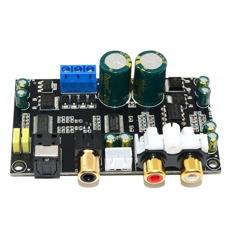Decodificador de Audio Coaxial óptico Cs8416 Cs4398 Chip 24Bit192Khz Spdif fibra óptica Coaxial Dac tablero de decodificación para amplificador