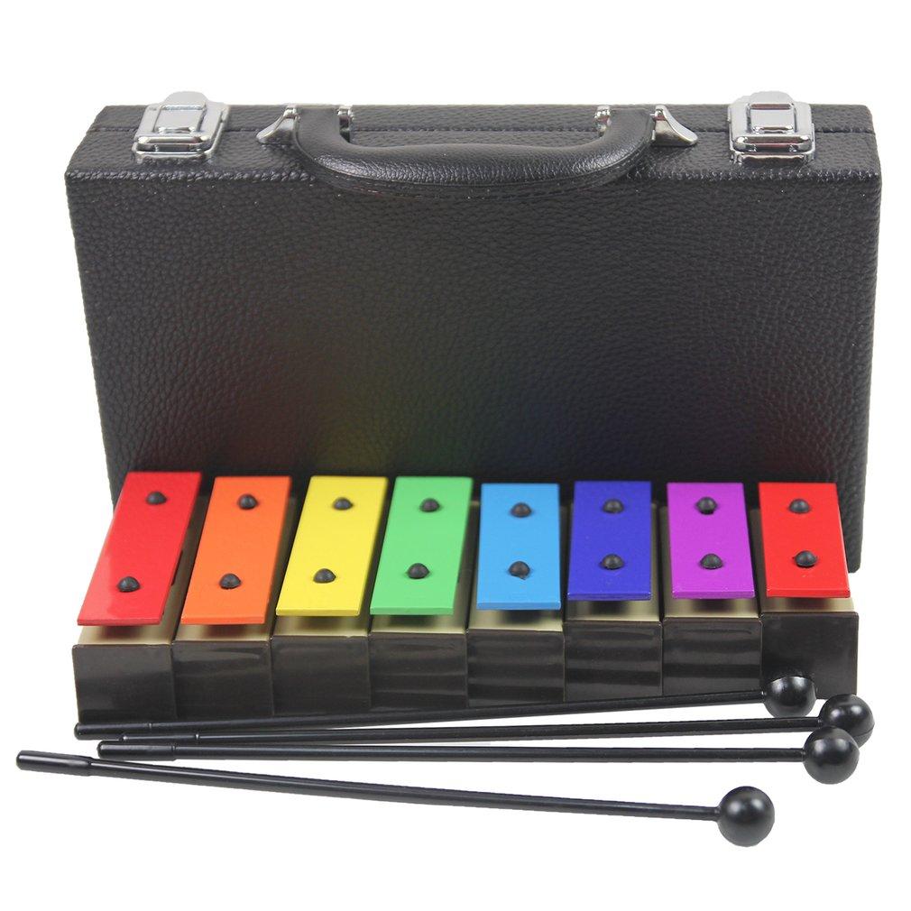 Meu-8 profissional bebê 8 notas xilofone crianças início da infância instrumento de música bebê aprendizagem música piano brinquedos com 4 vara