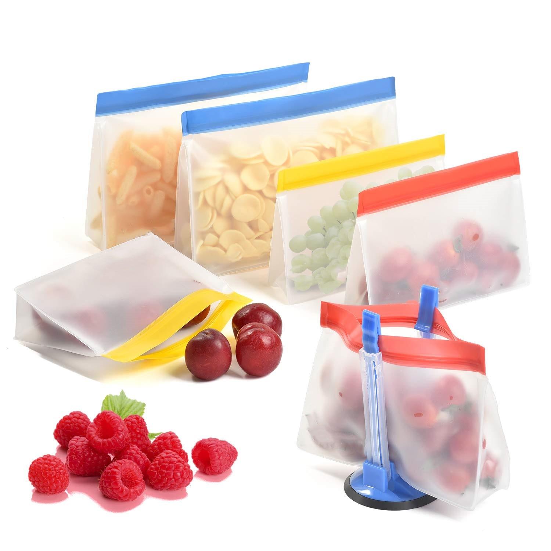المنزلية قابل للغسل وقابلة لإعادة الاستخدام PEVA وجبة خفيفة ساندويتش الغذاء حقيبة التخزين 12 حزمة 3S + 3m + 3L + 3XL