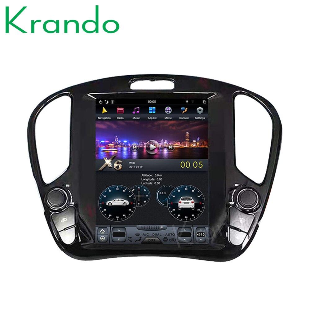 Krando Android 9,0 4G RAM 12,1 pantalla Vertical de estilo Tesla, Radio de navegación de Audio para coche, para Infiniti ESQ Nissan Juke 2011-2018
