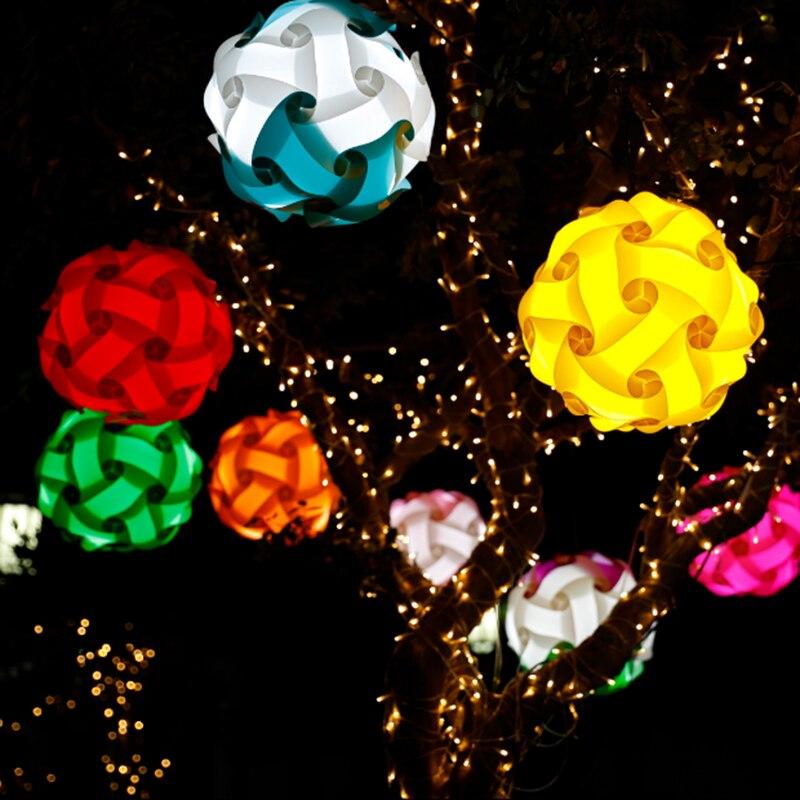 مصباح أحجية الصور المقطوعة ، كرة تصميم حديث ، قطر 30 سنتيمتر ، شحن مجاني