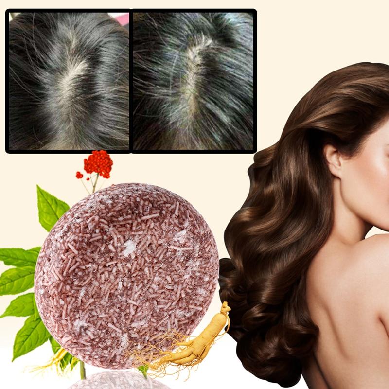 Polygonum Essence Hair Darkening Shampoo Bar Soap Natural Organic Mild Formula Hair Shampoo Gray Hair Reverse Hair Cleansing недорого