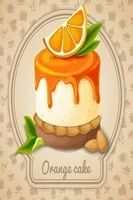 vintage homemade homemade orange cake metal tin sign 8x12 inch retro home kitchen cafe shop wall decor poster new