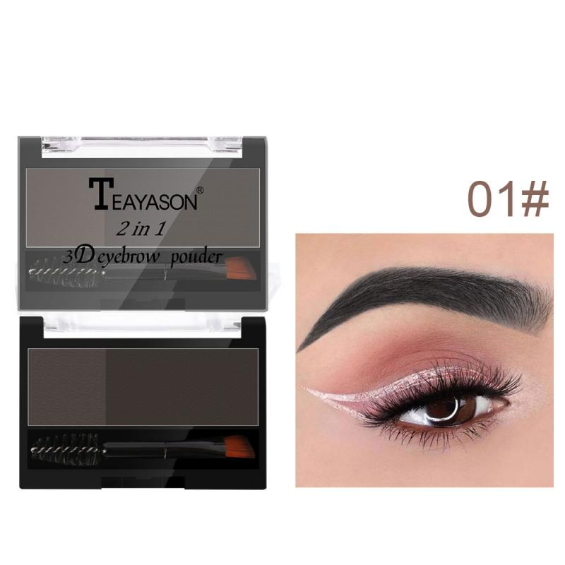 Natural 2 color Eyebrow powder Quick Makeup Brow Powder Pallette Long-lasting Eyebrow Powder eye Mak