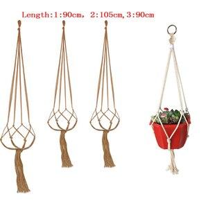 1pc Macrame Plants Hanger Hook Flower Pot Holder Legs String Hanging Rope Wall Art Home Garden Balcony Decoration