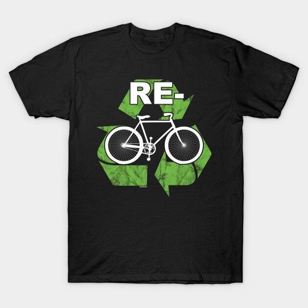 Camiseta de bicicleta dos homens ciclismo ciclismo ciclismo fitness presente engraçado reciclar bicicleta camiseta
