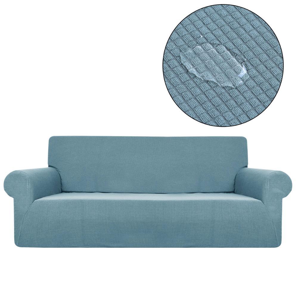 Fundas de sofá impermeables de Color sólido para sillones de sala fundas elásticas sofás SA47012