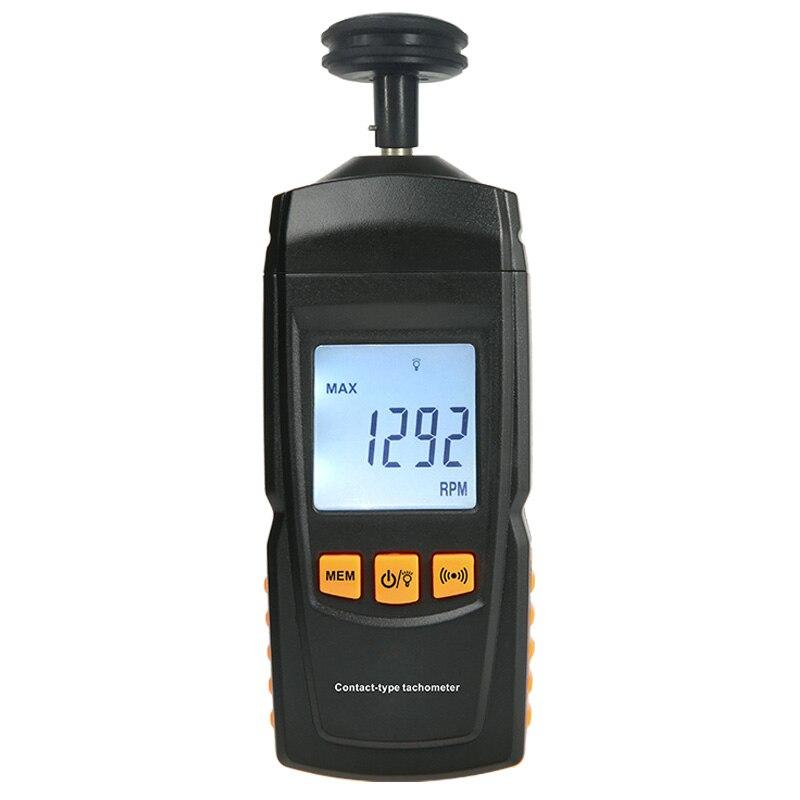 O tacômetro novo do contato de gm8906 digitas gerencie o medidor de frequência linear 0.5-19999rpm do motor da velocidade da velocidade do medidor de frequência do valor
