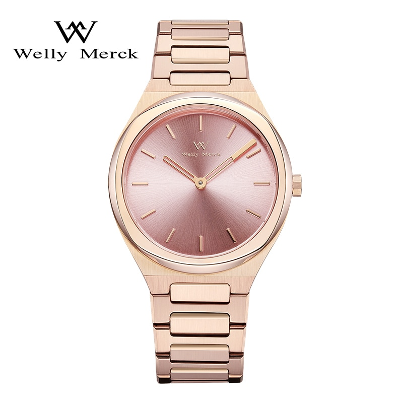 Welly Merck Luxury Brand Women Watches Swiss Quartz Movement Waterproof Stainless Steel Case Ladies Watch relogio feminino 2021