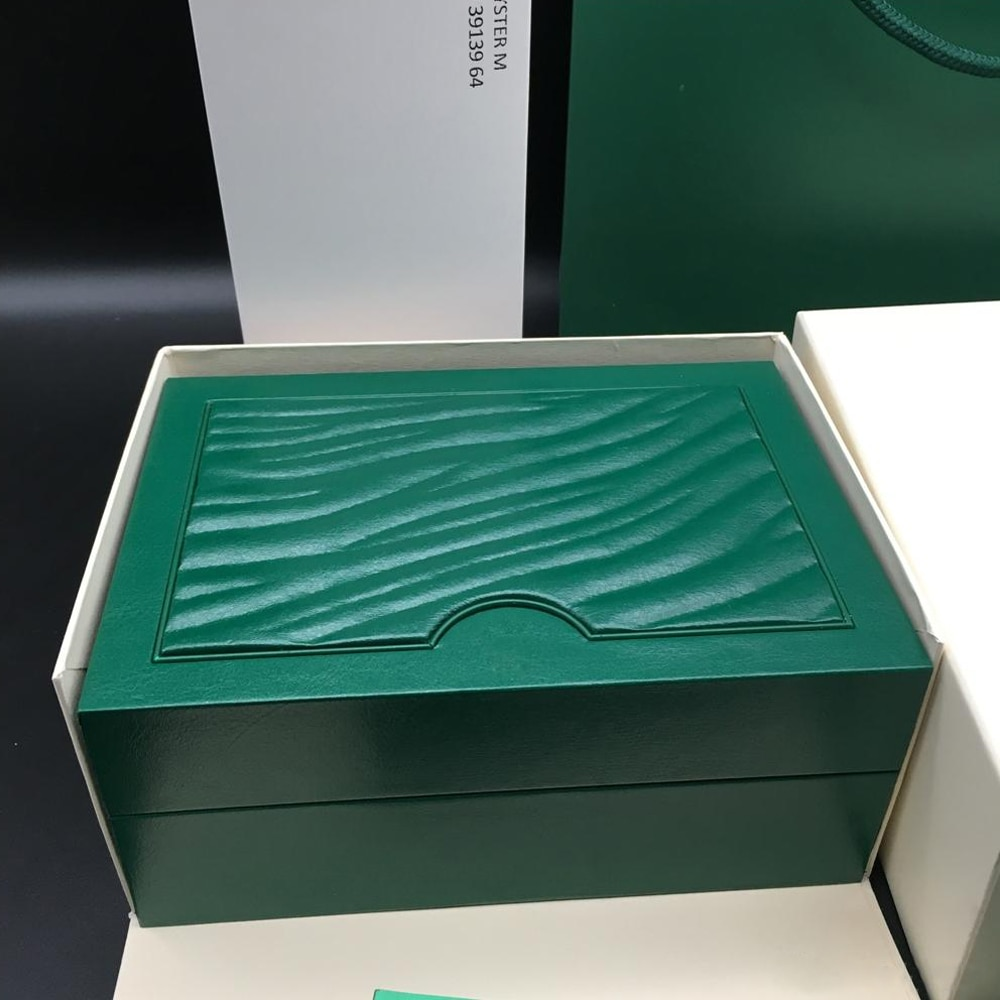 Original Matching Papers Security Card Gift Bag Top Green Box Wood Watch Boxes Booklets Watches Free Print Custom Card enlarge