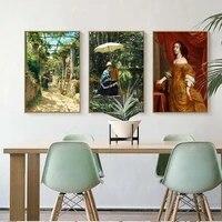 Vinsonlou decoration de la maison mur Art toile affiche impression toile peintures pour salon chambre style europeen court portrait