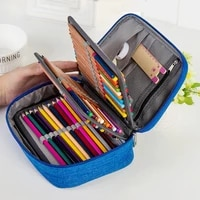 canvas school pencil cases for girls boy 72 holes pen box multifunction storage bag case pouch student stationery supplies
