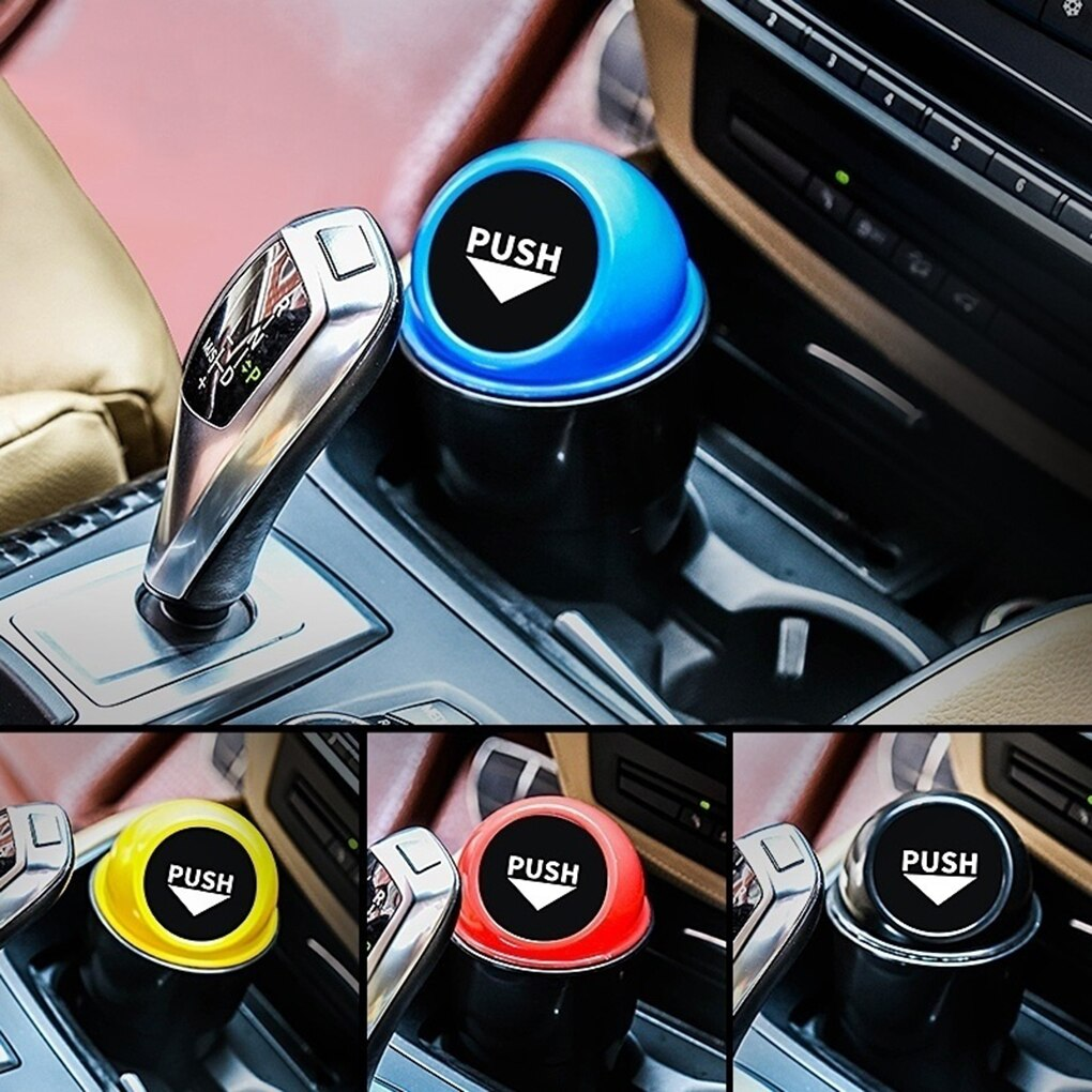 Car Mini Garbage Can Auto Creative Trash Can Vehicle Dust Holder Bin Box Spring Cover Universal Car