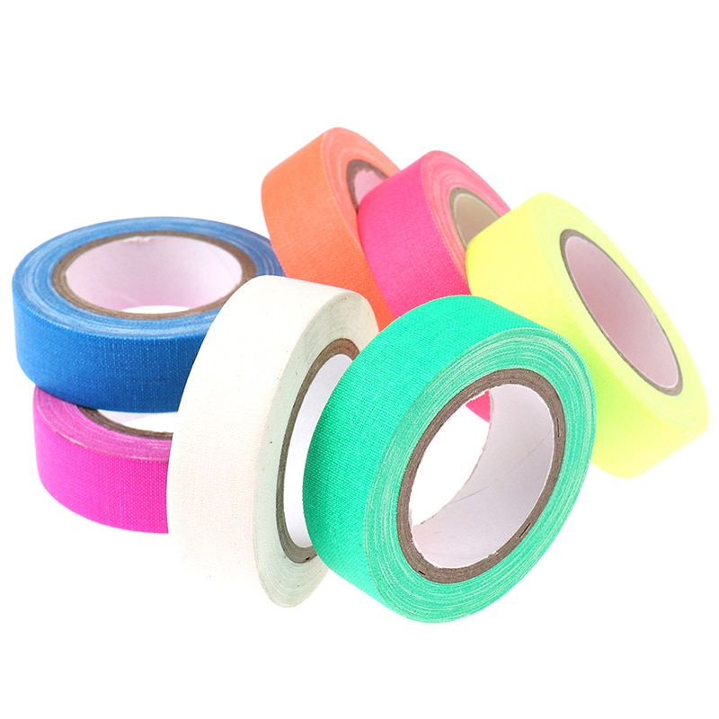 1Pc DIY Fluorescent UV Cotton Tape Night Self-Adhesive Glow In The Dark Luminous Tape For Party Floors Stages