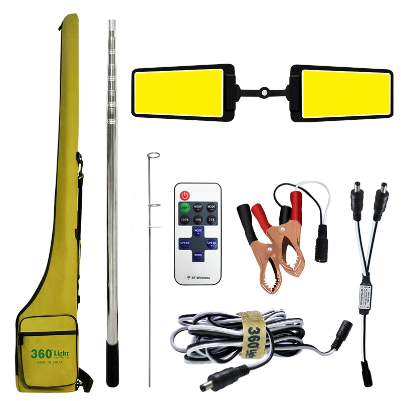 Outdoor Portable 4 meter Telescopic Camping light led Work lamp Fishing Rod Camping Lantern Rechargeable LED Lighting for travel enlarge