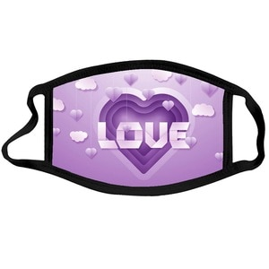 1pc Adult love Printed Funny Outdoor Washable Breathable Cycling Mondmasker Scarf Masques mascherine Halloween Cosplay Mask