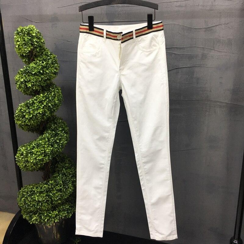 Мужские повседневные брюки 2021, белые брюки, мужские летние облегающие повседневные мужские брюки, летние брюки, облегающие мужские брюки