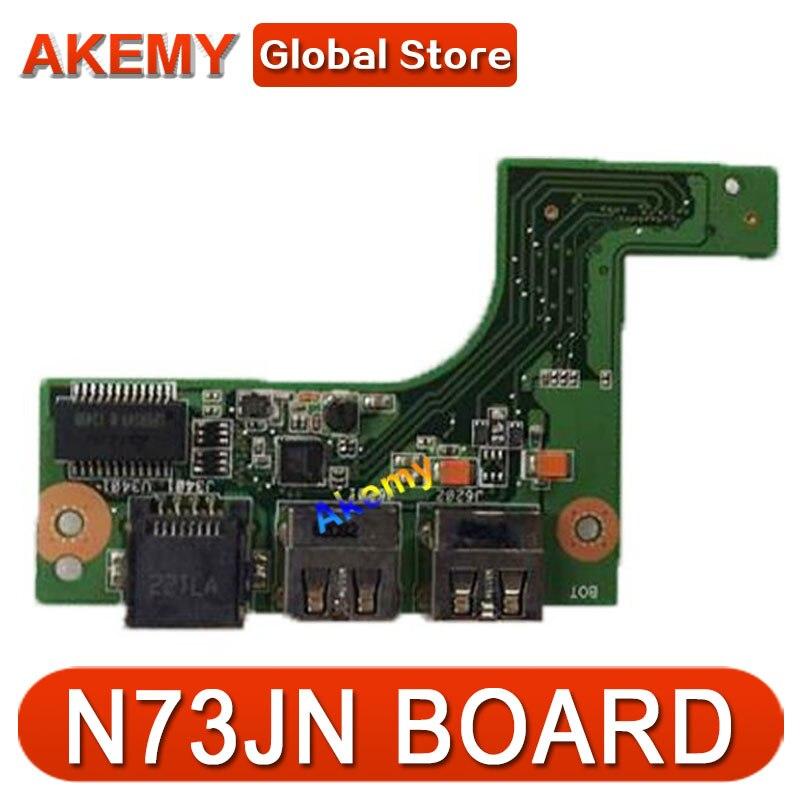 لوحة حرارية AK جديدة لـ ASUS N73 N73J N73JQ N73JF N73JN ، USB N73S_LAN_IO_BOARD يعمل